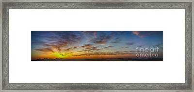 Mid-continent Sunrise Framed Print