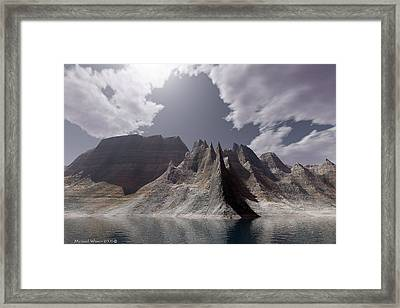 Mid Day At The Point Framed Print by Michael Wimer
