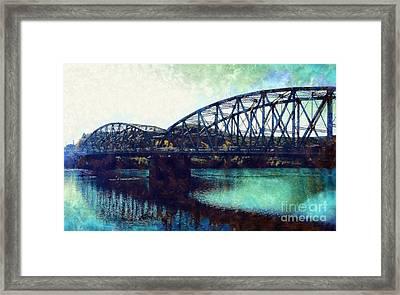 Mid-delaware River Bridge Framed Print by Janine Riley