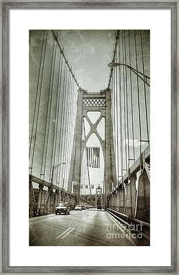 Mid Hudson Suspension Bridge Framed Print