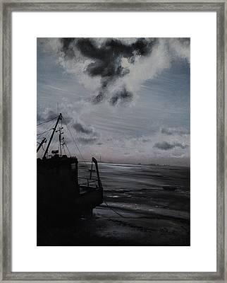 Mid-morn Across The Estuary Framed Print