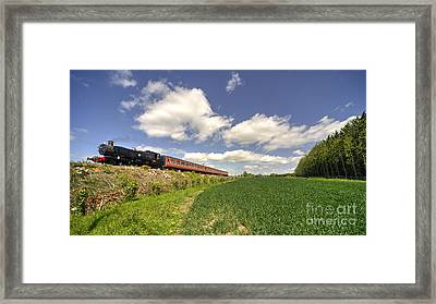 Mid Norfolk Steam  Framed Print by Rob Hawkins