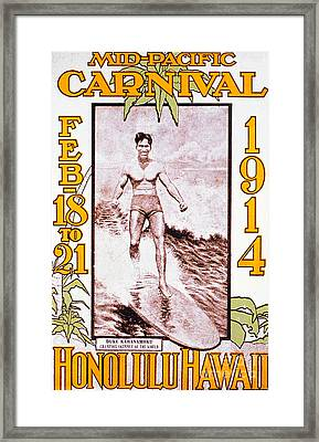 Mid Pacific Carnival Framed Print by Hawaiian Legacy Archive - Printscapes