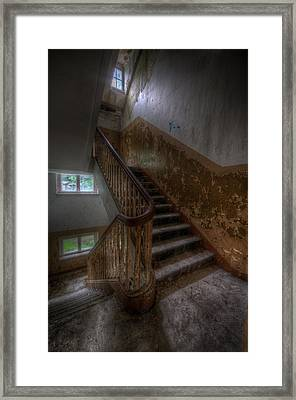 Mid Stairs Framed Print by Nathan Wright