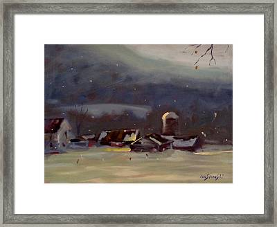 Framed Print featuring the painting Mid Winter by Len Stomski