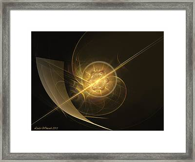 Framed Print featuring the digital art Midas Astral by Linda Whiteside