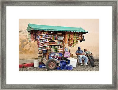 Midday Break Framed Print