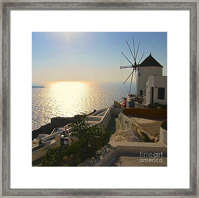 Midday On Santorini Framed Print