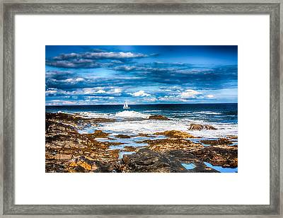Midday Sail Framed Print by Fred Larson