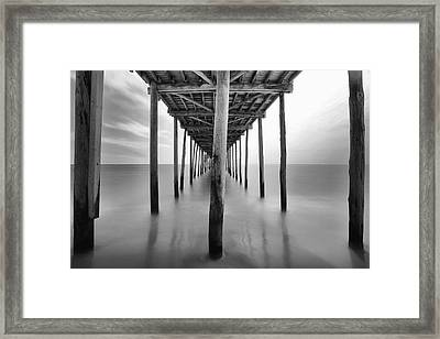 Midday Under The Pier Framed Print