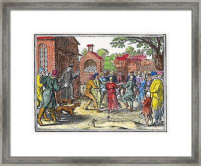 Middle Ages Dancing Mania Framed Print by Granger