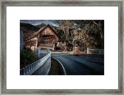 Middle Bridge - Woodstock Vermont Framed Print by Thomas Schoeller