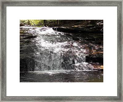 Middle Chapel Brook Falls Framed Print