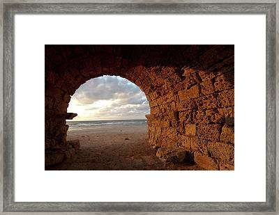Middle East, Israel, Remains Of An Framed Print
