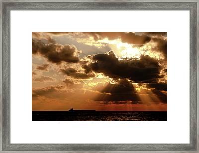 Middle East, Israel, Sunset Framed Print