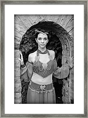 Middle Eastern Princess Framed Print by Stephanie Grooms