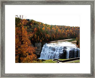 Framed Print featuring the photograph Middle Falls Letchworth State Park by John Freidenberg