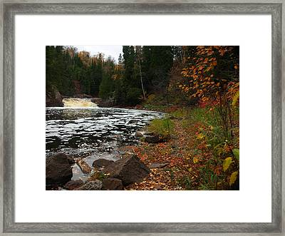 Middle Falls Tettegouche Framed Print by James Peterson