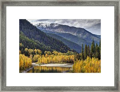 Middle Fork Brillance  Framed Print by Mark Kiver