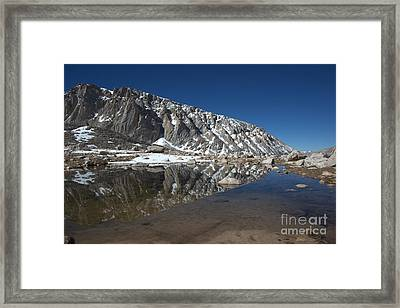 Middle Lake Reflections Framed Print
