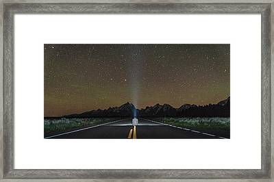 Middle Of The Road Framed Print by Kristopher Schoenleber