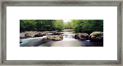 Middle Prong Of Little Pigeon River Framed Print by Panoramic Images