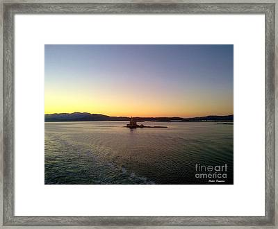 Framed Print featuring the photograph Middle Sea Sunrise by Ramona Matei