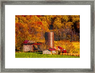Middleburg Silo And Outbuildings Framed Print