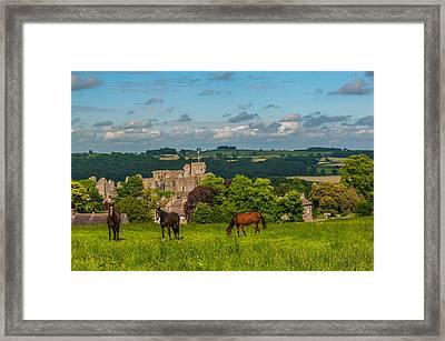 Middleham Castle Framed Print by David Ross