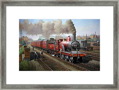 Midland Railway Single 1896. Framed Print by Mike  Jeffries