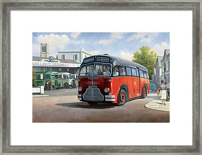 Midland Red C1 Coach. Framed Print by Mike  Jeffries