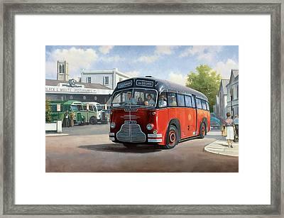 Midland Red C1 Coach. Framed Print