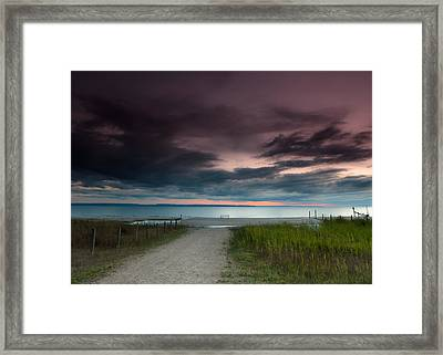 Midland Sunset Framed Print by Cale Best