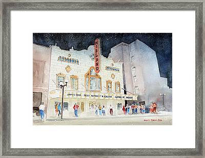 Midland Theatre Framed Print