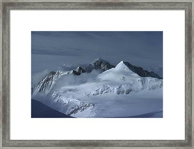 Midnigh Tview From Vinson Massif Framed Print by Colin Monteath