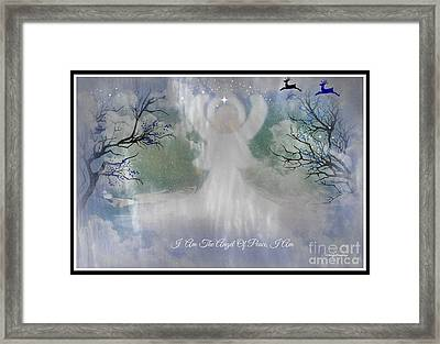 Midnight Angel Of Peace Framed Print by Sherri's Of Palm Springs
