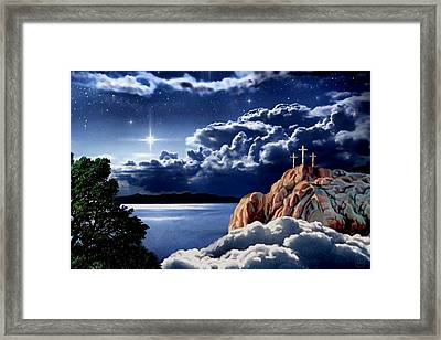 Midnight At Calvary Framed Print by Ron Chambers