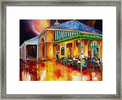 Midnight At The Cafe Du Monde Framed Print