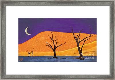 Midnight At The Oasis Framed Print by Arne Hansen