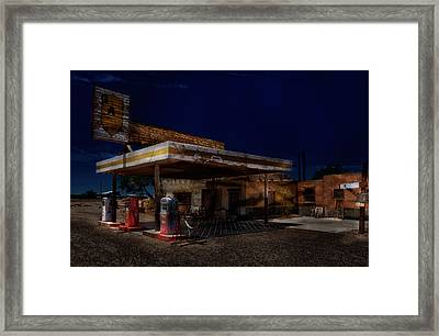 Midnight At The Oasis. Framed Print