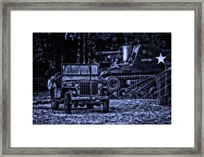 Midnight Battle And All Is Quite On The Front Lines Framed Print by Thomas Woolworth