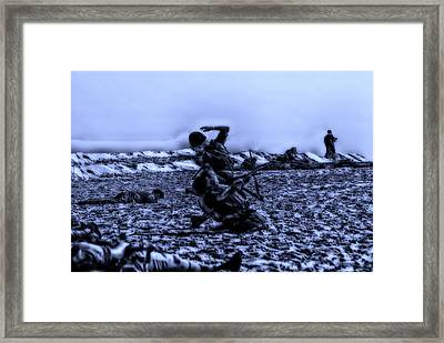 Midnight Battle Men Down Framed Print by Thomas Woolworth