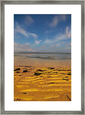 Midnight Beach - Bali Framed Print