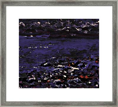 Midnight Beach Framed Print