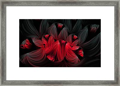 Midnight Blooms Framed Print by Lea Wiggins