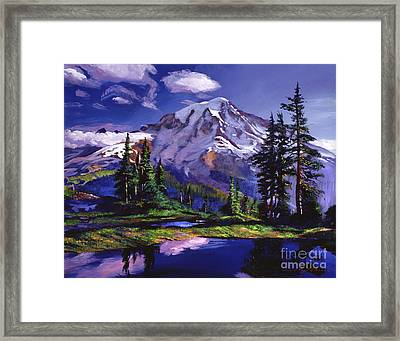 Midnight Blue Lake Framed Print