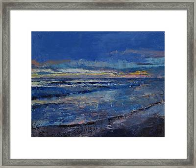 Midnight Blue Framed Print by Michael Creese