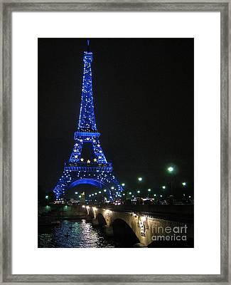 Framed Print featuring the photograph Midnight Blue by Suzanne Oesterling