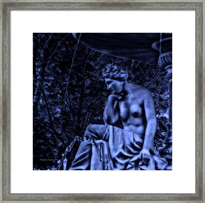 Midnight By The Fountain Framed Print by Thomas Woolworth