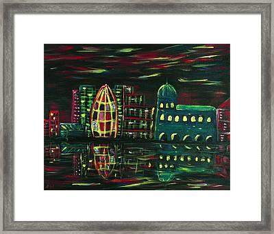 Midnight City Framed Print by Anastasiya Malakhova